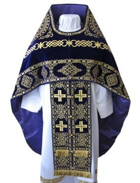 Embroidered priest's vestments 10176