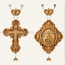 Wood Cross and Panagia 10467
